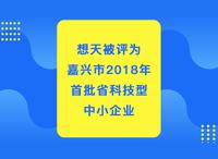 想天被评为嘉兴市2018年首批省科技型中小企业!